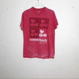 Woodstock Vintage Style Ted Burnout T Shirt Size L